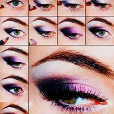 Purple eyeshodow