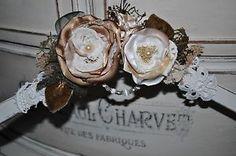 wedding bride dress clothes hanger vintage ivory white wooden lace rose burlap