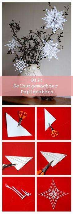 Selbstgemachter Papierstern Foto: Kayvintage #diy #selbstgemacht #papier #paper #papierstern #weihnachtsdeko #dekoration #deko #einrichtung #inspiratioin #idee