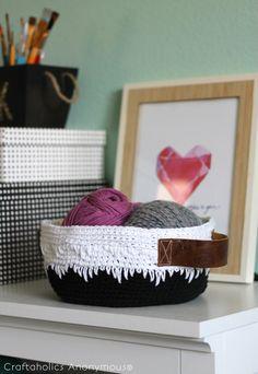 Craftaholics Anonymous®   Geometric Crochet Basket Tutorial