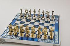 Hercules chess set 20X20cm / Aluminium chess by CraftsAndMetal