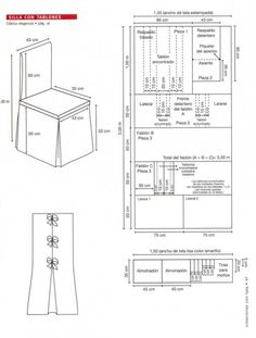 trendy sewing machine cover pattern tutorials how to make Banquet Chair Covers, Dining Chair Covers, Dining Chair Slipcovers, Chair Cushions, Dining Chairs, Techniques Couture, Sewing Techniques, Easy Sewing Projects, Sewing Tutorials