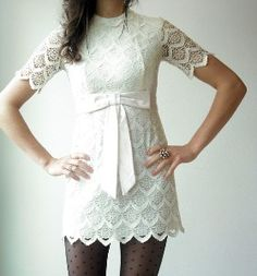Sorta wish I could just wear ONLY dresses for the rest of forever. ahh. love lace and white