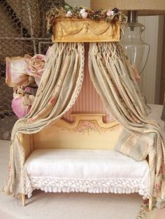 French DaybedSettee by MaritzaMiniatures on Etsy