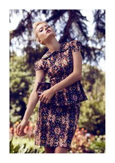 Botanical Garden Editorials - The Plaza Kvinna May 2012 Photoshoot Stars a Pretty Annabella Barber (GALLERY)