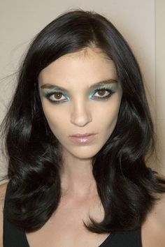 Top model, Maria Carla Boscono, Gucci SS 2009. Hair.