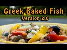 Dutch Oven Greek Baked Fish | Version 2 0 - YouTube