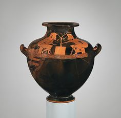hydria; late archaic; ajax and achilles playing a game