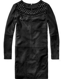 Studded Leather Dress