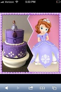 Princess Sofia birthday cake for Chloe