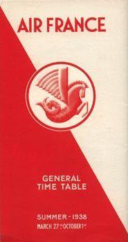 Air France Timetable, 1938