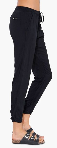 Cute and Comfy alternative to leggings! Black Pants