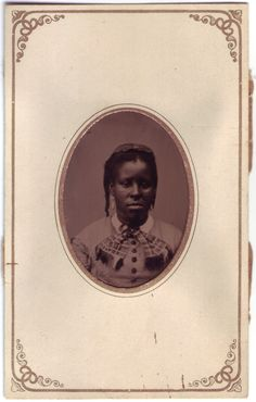 """Clio, a Sully Plantation slave ca. 1865. Tintype photograph of Clio, a slave girl owned by Phebe Haight, 3"""" x 2""""."""