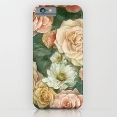 Floral rose pattern iPhone & iPod Case by StrijkDesign | Society6