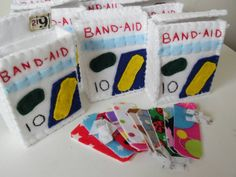 Check out this item in my Etsy shop https://www.etsy.com/listing/112412554/felt-band-aid-box-band-aids