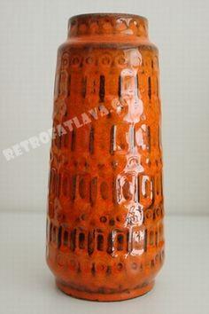 Scheurich vase  orange theme on Facebook    http://www.facebook.com/pages/Retro-Fat-Lava#!/pages/Retro-Fat-Lava/436919822988497    http://retrofatlava.com/index.php?item=scheurich-vase=article_id=9=1205=EN#