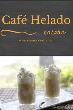 El café helado es la bebida tradicional para las tardes de verano en Chile, usualmente disfrutado en salones de té y terrazas. Summer Desserts, Summer Drinks, Coffee Express, Chocolates, Chilean Recipes, Chilean Food, R Cafe, Ice Cream Party, English Food