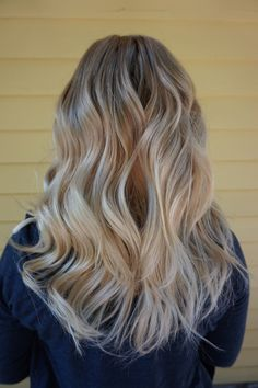 Balayage, Sombre, Cool Toned Pearl Blonde Hair, Hair by Abigail Walston