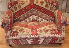 ANTIQUE KILIM SOFA,W140 D85 H80 ,You are Welcome to visit our shop and choose Kilim Rug, We can custom make furniture suitable for your requirements, We offer a range of Kilim Upholstered Furniture. http://www.rugstoreonline.co.uk/prddet-6602-antique-kilim-sofa