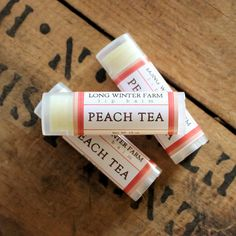 Peach Tea Lip Balm - Long Winter Soap Co.