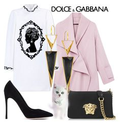 """""""fg826"""" by axenta ❤ liked on Polyvore featuring Vince, Dolce&Gabbana, Versace, Gianvito Rossi and Lana"""