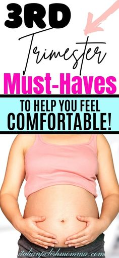 Third Trimester Must Haves! Here are the best 3rd trimester pregnancy essentials to help you feel comfortable! These third trimester must haves have helped me for all four of my pregnancies and I couldn't live without them! #thirdtrimester #pregnancy #pregnancytips #pregnancymusthaves #maternity #thirdrimesteritems