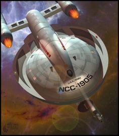 Probe Launch by RobCaswell on DeviantArt Star Trek Rpg, Star Trek Ships, Star Wars, Scotty Star Trek, Uss Iowa, Starfleet Ships, United Federation Of Planets, Star Trek Starships, Star Trek Universe