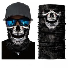 Protect yourself from the elements with the Grinning Skull Face Shield from Bushpro Outdoors. Skull Scarf, Skull Mask, Joker Clown, Motorcycle Face Mask, Facial, Joker And Harley Quinn, Male Face, Camouflage, Black