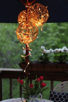 DIY lanterns with twine