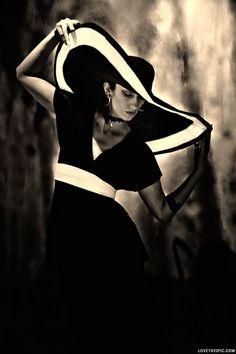 Coco Chanel - 1930 fashion dress vintage hat blackandwhite designer historical thirties coco chanel 1930 30's