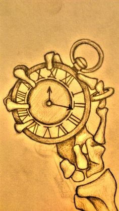 Terrible design, but sweet concept. Skeleton and pocket watch. Palm Tattoos, Weird Tattoos, Amazing Tattoos, Pocket Watch Tattoo Design, Hand Tattoo, Watch Tattoos, Skeleton Watches, Skeleton Hands, Sketch 2