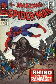 Amazing Spider-Man # 43 , December 1966 , Marvel Comics Vol 1 1963 tumblr_niyrvzaxZe1rn55nzo1_540.jpg (537×810)