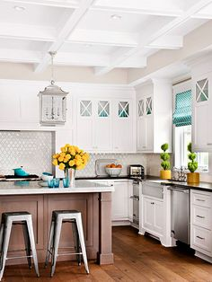 Try a Box-Beam Ceiling