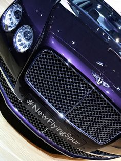 Purple 2014 Bentley Continental Flying Spur