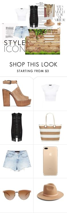 """Bez naslova #17"" by selma-366 ❤ liked on Polyvore featuring Rika, Rebecca Minkoff, Dorothy Perkins, Sun N' Sand, Alexander Wang, Versace and Lack of Color"