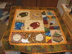 Woohoo!  A coffee quilt - how awesome is that!