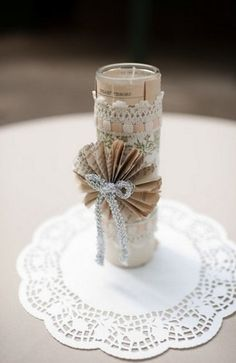 decor, lace, white, diy, wedding - I found very pretty doilies for cheap!