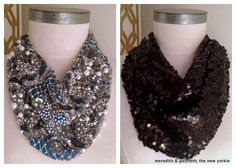 sequin sweater diy | DIY} Roarke Inspired Sequin Scarf Necklace | Meredith & Gwyneth, The ...