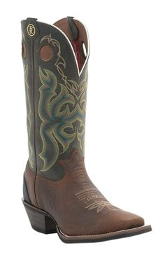 Tony Lama 3R Series Mens Bark Bull Buffalo with Green Top Double Welt Square Toe Western Boot | Cavender's