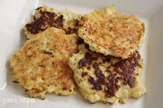 Cauliflower Fritters - This is a delicious way to prepare cauliflower. Similar to the taste of a potato pancake. Your kids will love them!