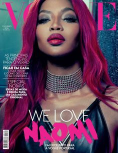 Supermodel Naomi Campbell fronts the February issue of Vogue Portugal , styled in femme fatale elegance by Ada Kokosar . Photographer An Le captures Naomi holding court in Prada, Dolce & Gabbana, Givenchy and The Row and more. Vogue Covers, Vogue Magazine Covers, Fashion Magazine Cover, Fashion Cover, V Magazine, Naomi Campbell, Top Models, Vanity Fair, Dark Man