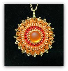 Aztec Moon and Aztec Sun - Tutorial for centrepiece/pendant