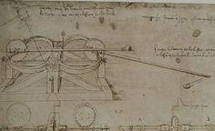 Leonardo da Vinci - Codice Atlantico - Balista multipla, study