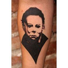 Dream Tattoos, Top Tattoos, Future Tattoos, Black Tattoos, Body Art Tattoos, Small Tattoos, Sleeve Tattoos, Micheal Myers Tattoo, Nightmare Movie