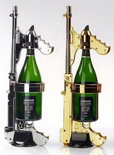 The Champagne Gun will give you a new way to drink champagne