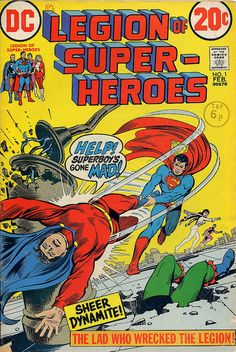 Legion of Super-Heroes, Nick Cardy, reprints, 1970s, DC Comics, The Legion Outpost, cover art