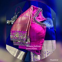 Pattu Saree Blouse Designs, Blouse Designs Silk, Designer Blouse Patterns, Bridal Blouse Designs, Hand Work Blouse Design, Simple Blouse Designs, Stylish Blouse Design, Maggam Work Designs, Maggam Works