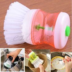 Free Shipping New Kitchen Wash Tool Pot Pan Dish Bowl Palm Brush Scrubber Cleaning Cleaner