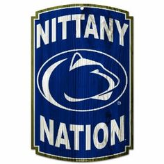 "NCAA Penn State Nittany Lions Wood Sign by WinCraft. $17.99. Decorated with dynamic team graphics. Made with 1/4"" thick hardboard wood. Made in the USA. Perfect touch to a fans favorite room. Approximately 11'x17"" in size. Hardboard wood signs are 1/4"" thick, decorated with quality graphics to resemble   an antique wood finish. A matte finish laminate top is added for greater durability   and a precision cut smooth edge makes this a great indoor decor sign. Made in USA"