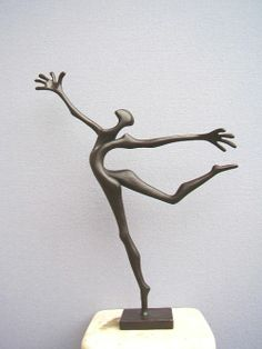 Bronze Figurative Abstract Modern or Contemporary #sculpture by #sculptor Plamen Dimitrov titled: 'Happy day' #art